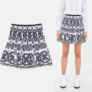 Zara lace floral skirt